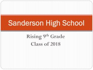 Sanderson High School