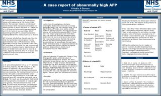 A case report of abnormally high AFP