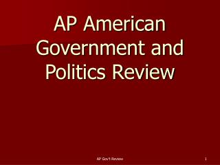 AP American Government and Politics Review