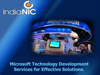 Microsoft Development Service at IndiaNIC