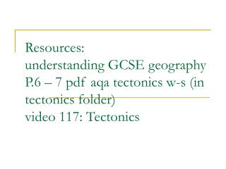 On book & folder  Name  Mr Patch (H104)  GEOGRAPHY [Short Course]