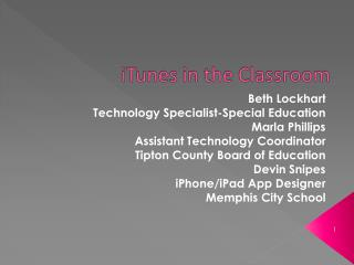 Beth Lockhart Technology Specialist-Special Education