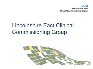 Lincolnshire East Clinical Commissioning Group