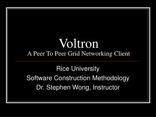 Voltron A Peer To Peer Grid Networking Client