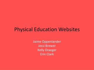 Physical Education Websites