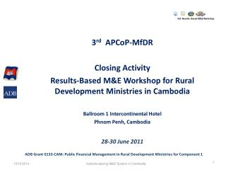 3rd -Results- Based M&E Workshop