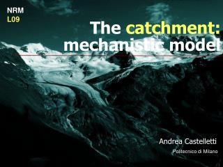 The  catchment:  mechanistic model