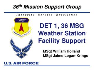 DET 1, 36 MSG  Weather Station Facility Support
