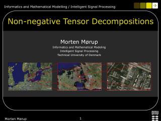 Non-negative Tensor Decompositions