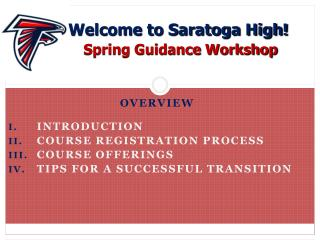 Overview Introduction Course Registration Process Course Offerings
