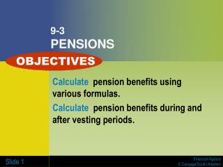 9-3 PENSIONS