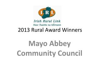 2013 Rural Award Winners