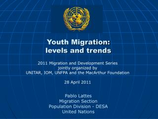 Youth Migration:  levels and trends