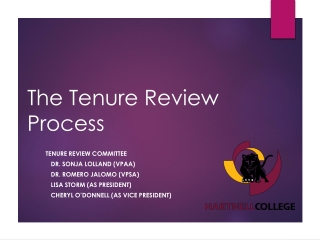 POST-TENURE REVIEW: Report and Recommendations