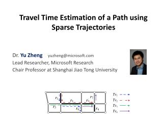 Travel Time Estimation of a Path using Sparse Trajectories