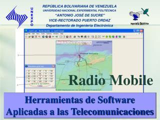 Herramientas de Software Aplicadas a las Telecomunicaciones