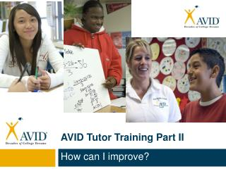 AVID Tutor Training Part II
