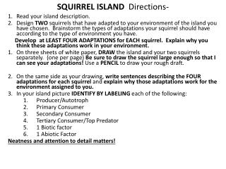 SQUIRREL ISLAND   Directions-