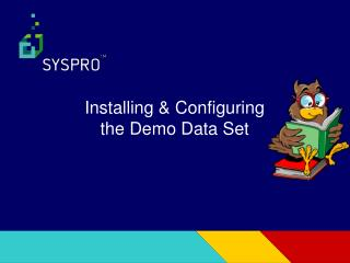 Installing & Configuring the Demo Data Set