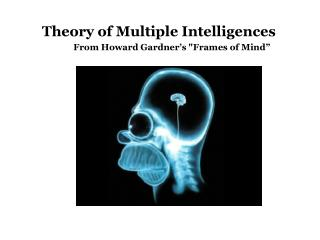 "Theory of Multiple Intelligences 				From Howard Gardner's ""Frames of Mind"""