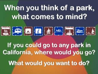 When you think of a park, what comes to mind?
