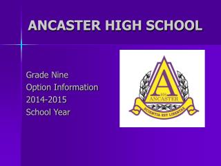 ANCASTER HIGH SCHOOL