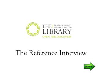 The Reference Interview