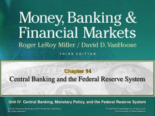 Central Banking and the Federal Reserve System