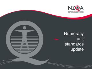 Numeracy unit standards update