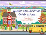 Muslim and Christian  Celebrations
