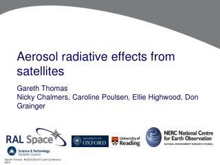 Aerosol radiative effects from satellites