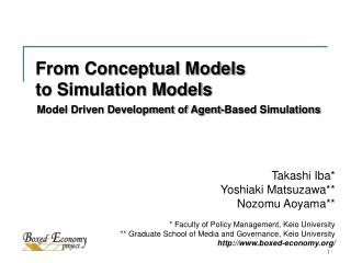 From Conceptual Models to Simulation Models
