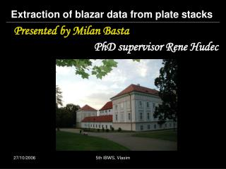 Extraction of blazar data from plate stacks
