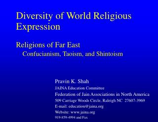 Diversity of World Religious Expression Religions of Far East