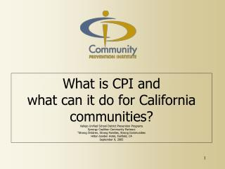 What is CPI?