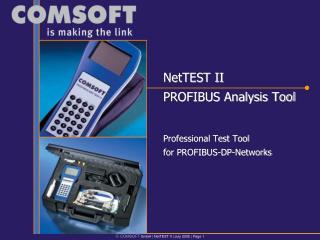 NetTEST II PROFIBUS Analysis Tool
