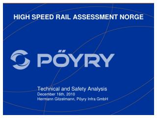 HIGH SPEED RAIL ASSESSMENT NORGE