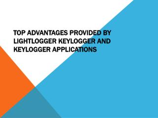 LightLogger Keylogger - Monitoring Software
