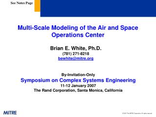 Multi-Scale Modeling of the Air and Space Operations Center