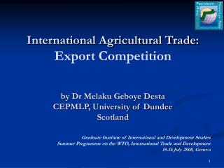 chapter 6 agricultural subsidies development Is reciprocity good for development 20 chapter included commitments from industrial countries to decrease agricultural subsidies the reality of trade: the.