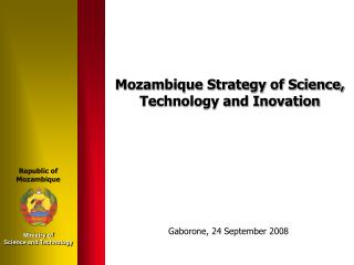 Mozambique Strategy of Science, Technology and Inovation