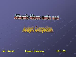 Atomic Mass units and