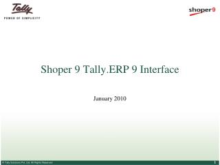 Shoper 9 Tally.ERP 9 Interface