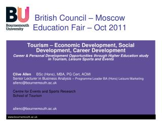 B ritish Council – Moscow Education Fair – Oct 2011