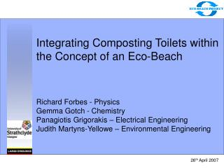 Integrating Composting Toilets within the Concept of an Eco-Beach