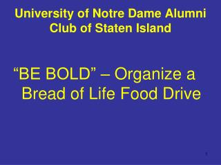 University of Notre Dame Alumni Club of Staten Island