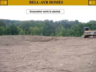 Excavation work is started.