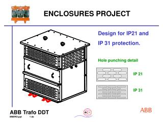 Design for IP21 and IP 31 protection.