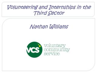 Volunteering and Internships in the Third Sector