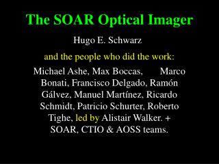 The SOAR Optical Imager